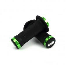 Odi Ruffian Flange Lock On Black Grip 100 Mm Green