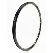 Sd Rim Double Wall With Eyelets Black 20X1.1/8 - 28H Front